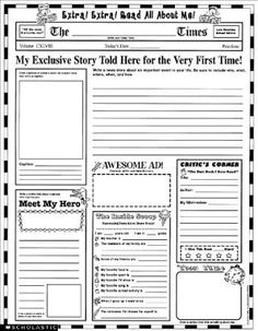 Here's a how-to and a printable newspaper article template for ...