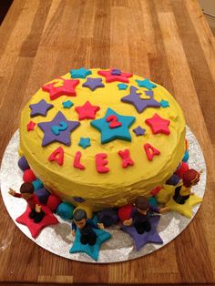 My attempt at a Wiggles cake for my daughter's 2nd Birthday. Actually quite easy to do!