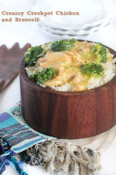 Creamy Crockpot Chicken and Broccoli Over Rice recently updated with new options!