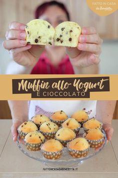 Yogurt Muffins, Italian Cake, Mini Desserts, Cupcake Recipes, Food Porn, Goodies, Food And Drink, Sweets, Snacks
