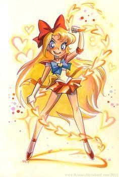 Sailor Venus by Brianne Drouhard Sailor Venus, Arte Sailor Moon, Sailor Moon Fan Art, Sailor Neptune, Sailor Jupiter, Sailor Moon Crystal, Sailor Mars, Sailer Moon, Sailor Mercury