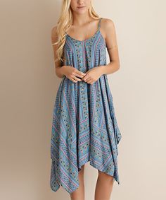 Another great find on #zulily! Blue Paisley Swing Dress #zulilyfinds