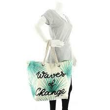 Roxy Waves of Changes Beach Tote Fashion Handbags, Roxy, Waves, Beach, Summer, Summer Time, The Beach, Beaches, Wave