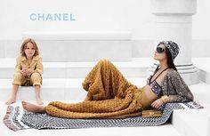 Chanel Cruise 2015   Joan Smalls and Brad Kroenig by Karl Lagerfeld #fashioncampaigns