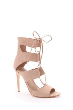 Faux Suede Lace-Up Sandals | Forever 21 - 2000182369