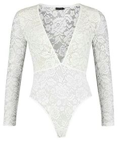 River Island Cream lace frill high neck lingerie bodysuit ( 30 ... 853c24580