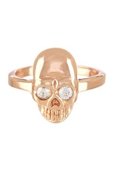 Rose Gold Skull Band