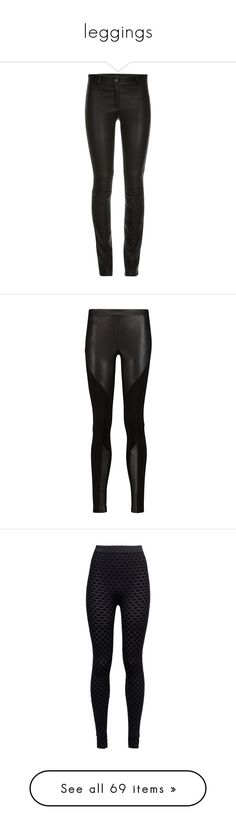 """""""leggings"""" by polesandpills ❤ liked on Polyvore featuring pants, bottoms, jeans, trousers, leather zipper pants, stretchy leather pants, leather zip pants, biker pants, skinny leather pants and leggings"""