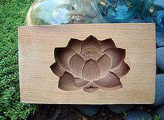 Japanese Kashi-gata Hasu Cookie Mold Lotus Design