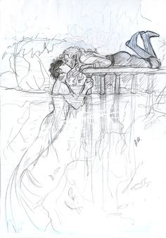 I love this. Percy Jackson as a Merman and Annabeth Chase as I think an Adventurer?