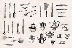 Kitchenware-Vintage-Engraving-Illustrations-02.jpg (2417×1609)
