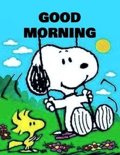 Good Morning Snoopy, Good Morning Wishes Friends, Good Morning Happy, Snoopy Love, Charlie Brown And Snoopy, Snoopy And Woodstock, Snoopy Cartoon, Snoopy Comics, Snoopy Images