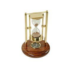 Reloj de arena basculante con brújula