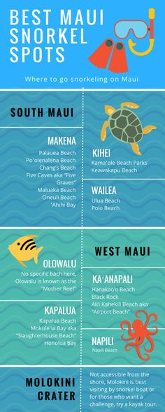 We have compiled a list of the best snorkeling locations in Maui Hawaii and how to get there!