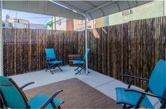 Philly townhouse located at  MIFFLIN St, PHILADELPHIA, PA  - Using bamboo to create privacy. urban backyard.