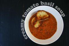 Creamy Tomato Basil Soup - making this tomorrow