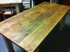 Reclaimed Wooden Table by brightandyoung on Etsy, £200.00