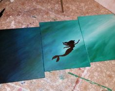 CP Version of Ariel - The Little Mermaid - Made to Order - Acrylic on Canvas