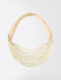 Max Mara GINNICO gris anthracite: Collier à rangs multiples avec perles.