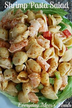 Shrimp Pasta Salad~ A cool supper for a hot day or the perfect cookout dish. So much flavor but still so simple.