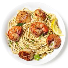 Shrimp and Scallop Scampi with Linguine Recipe : Food Network Kitchen : Food Network Shrimp Linguine, Scallop Linguine, Linguine Recipes, Pasta Recipes, Dinner Recipes, Cooking Recipes, Shrimp Ceviche, Appetizer Recipes, Scallop Ceviche