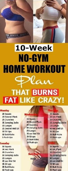 The 10 Week No-Gym Home Workout Plans 10 Week No-Gym Home Workout Plan That Burns Fat Guaranteed 10 Week Workout Plan, Weekly Workout Plans, At Home Workout Plan, At Home Workouts, The Plan, How To Plan, Health Tips For Women, Health Advice, Health Care