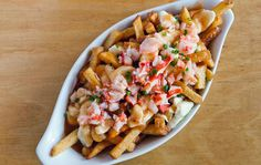 // Rock Lobster's famous lobster-topped poutine