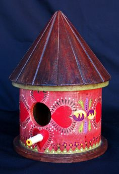 HEARTS OF RED Birdhouse An Original Collectible by KrugsStudio,