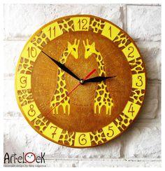 The Giraffes Wall Clock Home Decor for Children by ArtClock,