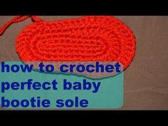 Suelas de Crochet para bebé - YouTube