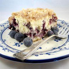 Grandma's Blueberry Buckle Blueberry Desserts, Just Desserts, Delicious Desserts, Summer Desserts, Yummy Food, Apple Pie Recipes, Cake Recipes, Dessert Recipes, Banana Recipes
