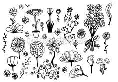 a few pretty flowers that are super easy to draw!