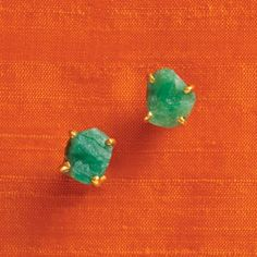 kate spade the royal bazaar emerald studs