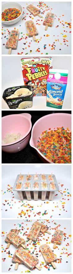 Cereal & Milk Breakfast Popsicles : Stoney Clover Lane Birthday breakfast for my Summer birthdays