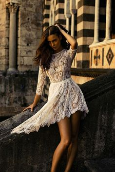 I want this dress. Classic, lace, love