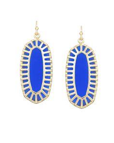 Dayla Oval Earrings in Cobalt - Kendra Scott Jewelry