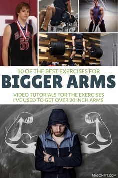 A list of the exercises for bigger arms I've used to build over 20-inch arms along with quick and easy video tutorials to learn the movements yourself.