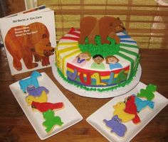 Brown Bear Storybook Themed Cake and Cookies