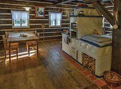 Old Kitchen, Home Decor Kitchen, Rustic Kitchen, Cabin Homes, Log Homes, Cordwood Homes, Small Log Cabin, Montana Homes, Japanese Interior Design