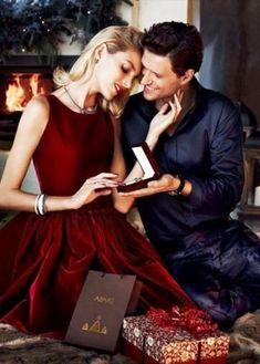 Anja Rubik & Sasha Knezevic for Apart Christmas 2013 Couple Style, Couple Goals, Anja Rubik, Christmas Trends, Christmas Fashion, Merry Christmas, Christmas Gifts, Christmas Couple, Christmas Morning