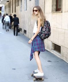 From the Milano #fashion #streetstyle archives #skateboarding #model #models…