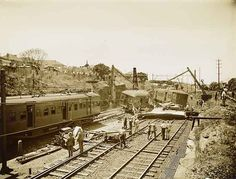 Derailment at Canterbury, 1937. Courtesy State Records NSW.