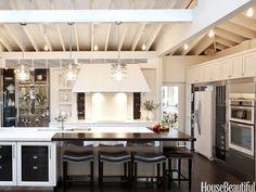Kitchen island and appliances. Design: Mick De Giulio. Photo: Chris Eckert. housebeautiful.com #kitchen #kitchen_island #bar_stools #kitchen_appliances #koty