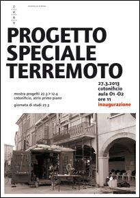Università Iuav di Venezia... mostra progetti degli studenti dei corsi di laurea triennali e magistrali in architettura e pianificazione del territorio   27 marzo - 12 aprile 2013