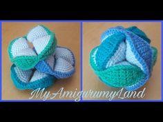 (4) Amish puzzle ball amigurumi - palla puzzle tutorial - YouTube