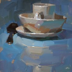 """Carol Marine's Painting a Day { the """"brush stroke exercise"""". The basic guideline is to mix a new color for each stroke.}"""