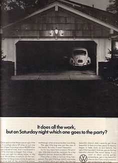 #lazycampers ##AdsWeLike The Great Mad Men Era Volkswagen Ads