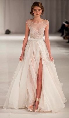 Paolo Sebastian short sleeve wedding dress. Beautiful