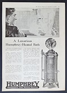 Humphrey Automatic Gas Water Heater Ad