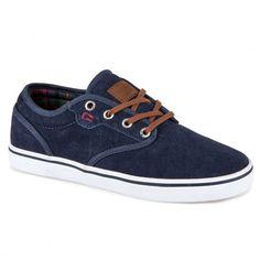 GLOBE Motley navy plaid chaussures de skateboard 59,00 € #skate #skateboard #skateboarding #streetshop #skateshop @playskateshop